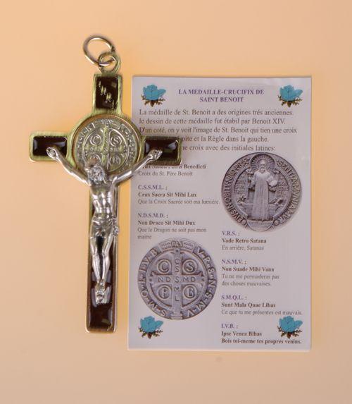 Croix Saint Benoît  BOIS (5 cm)