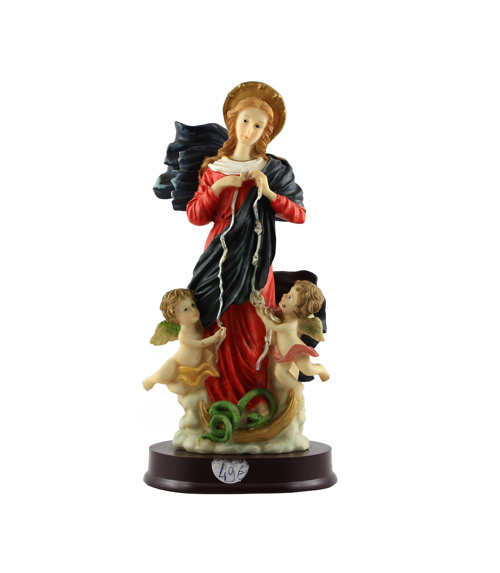 Statue marie qui défait les noeuds (30 cm)