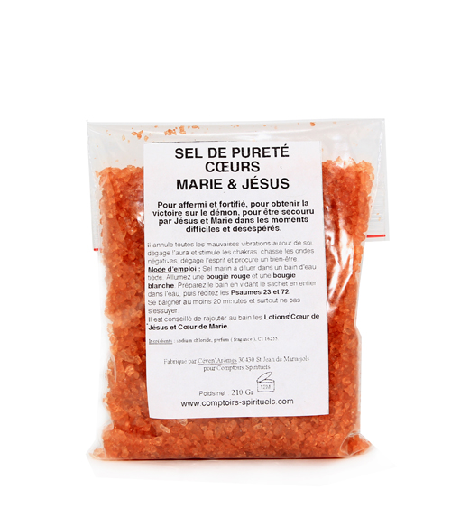 Sel de pureté saints coeurs marie & jésus