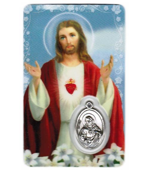 Carte de priere sacr�-coeur de j�sus