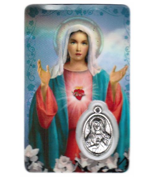 Carte de priere sacr�-coeur de marie