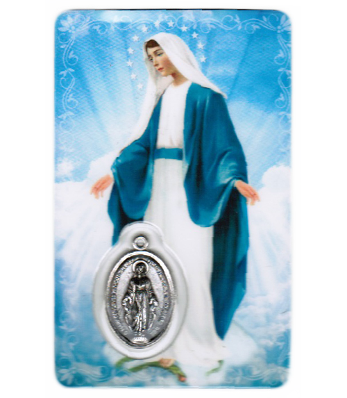 Carte de priere notre dame miraculeuse