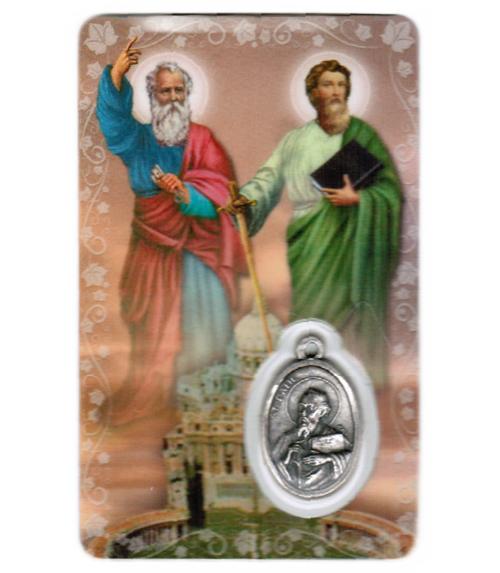 Carte de priere saints pierre & paul