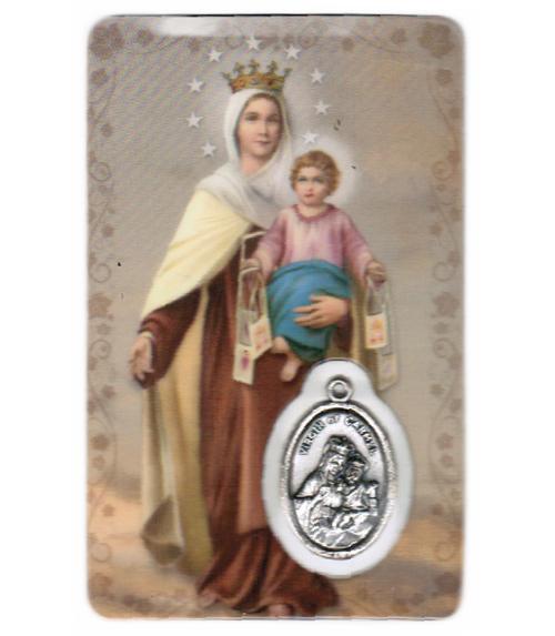 Carte de priere notre dame du mont carmel
