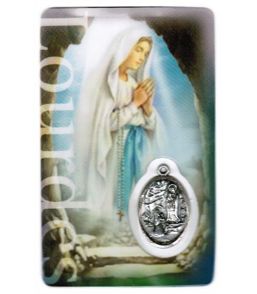 Carte de priere notre dame de lourdes