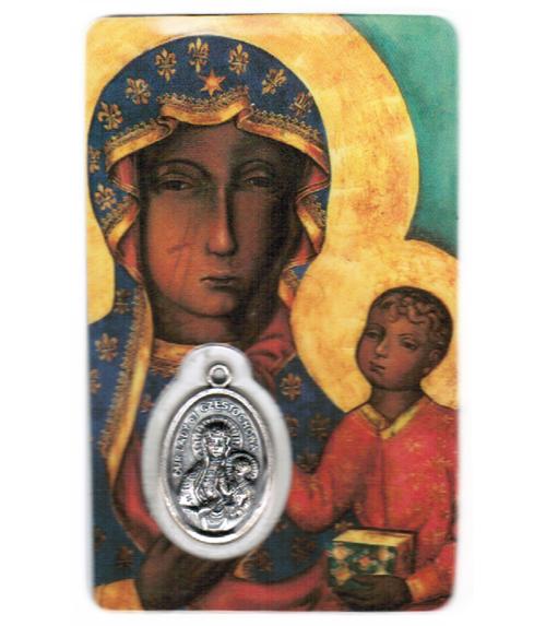 Carte de priere notre dame de czestochowa