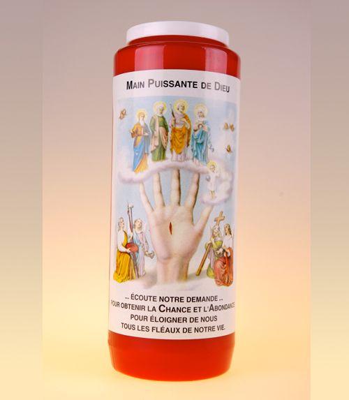 Bougie main puissante de dieu