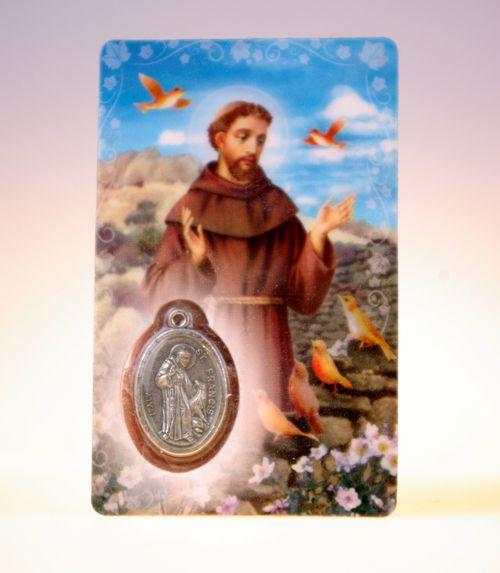 Carte de priere saint francois