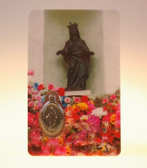 Carte de priere vierge noire