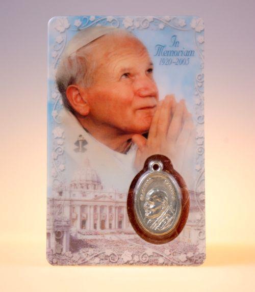 Carte de pri�re Pape Jean-Paul II