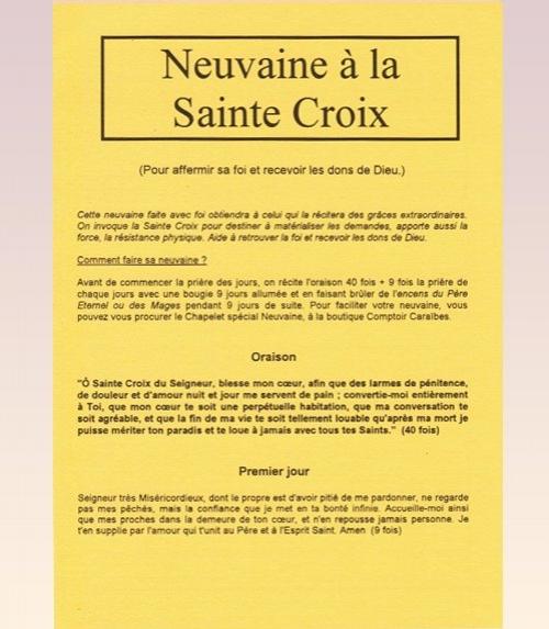 Neuvaine Sainte Croix