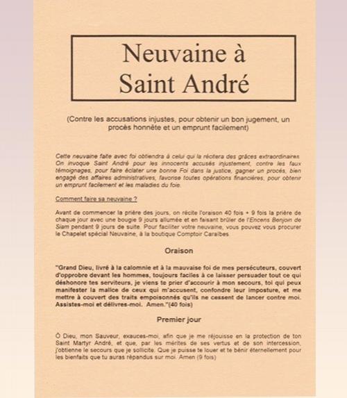 Neuvaine Saint André