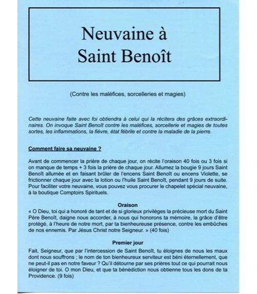 Neuvaine Saint Beno�t