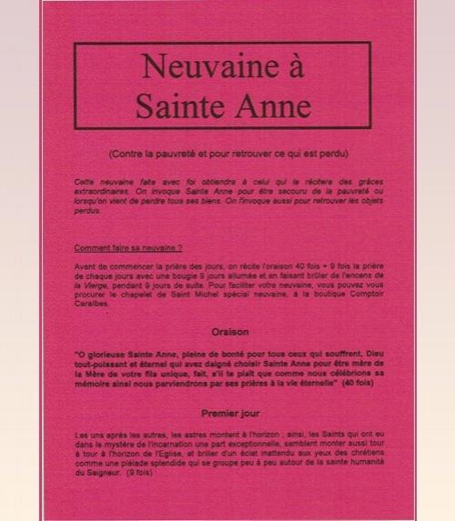 Neuvaine Sainte Anne