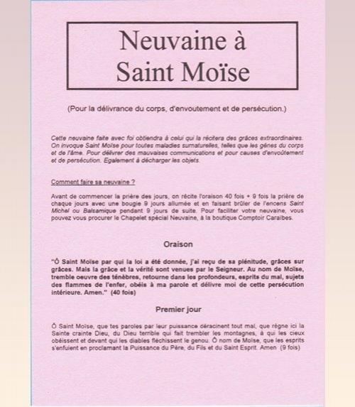 Neuvaine Saint MoÏse