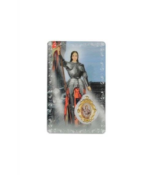 carte de pri�re Sainte Jeanne d'Arc