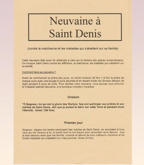 Neuvaine Saint Denis