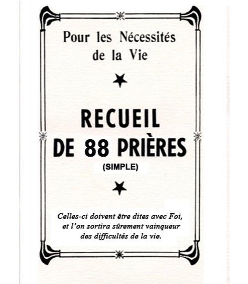 Véritable 88 Prières (simple)