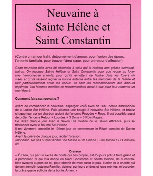 Neuvaine Sainte Hélène et Saint Constantin