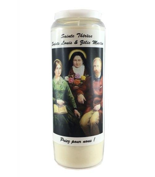 bougie sainte thérèse / saints louis et zélie martin