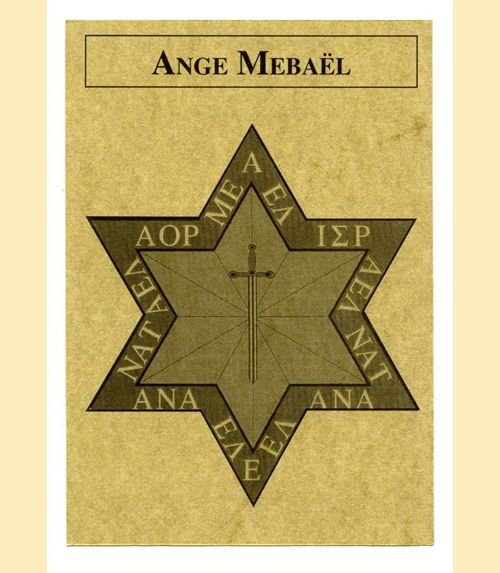 Pentacle ange mébael - ange 2018