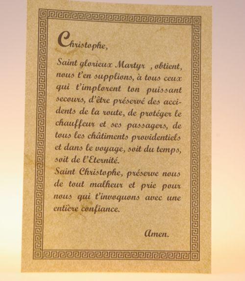 Parchemin saint christophe