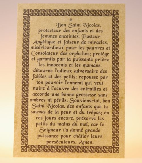 Parchemin saint nicolas