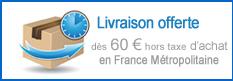 Livraison gratuite dès 50 euros d'achat en France Métropolitaine